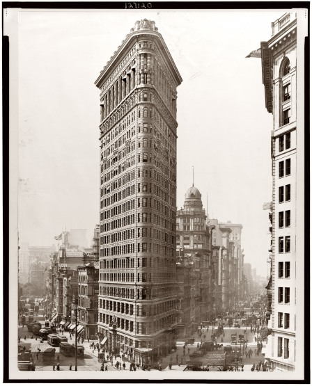 The Panic of 1901 was also marked by the erection of the Fuller Building (or popularly known as the Flatiron Building.
