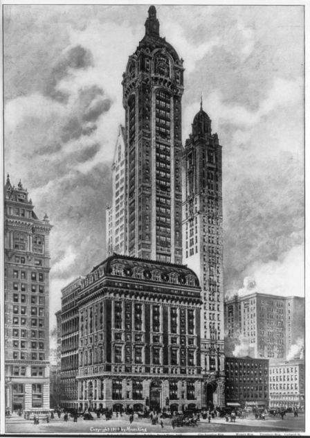 1908 Singer_Building_New_York_City