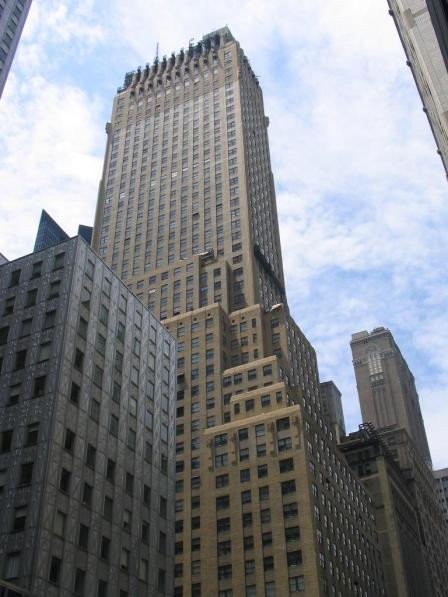 The Chanin Building, probably the most finely crafted skyscraper of the art-deco era, opened in 1929.