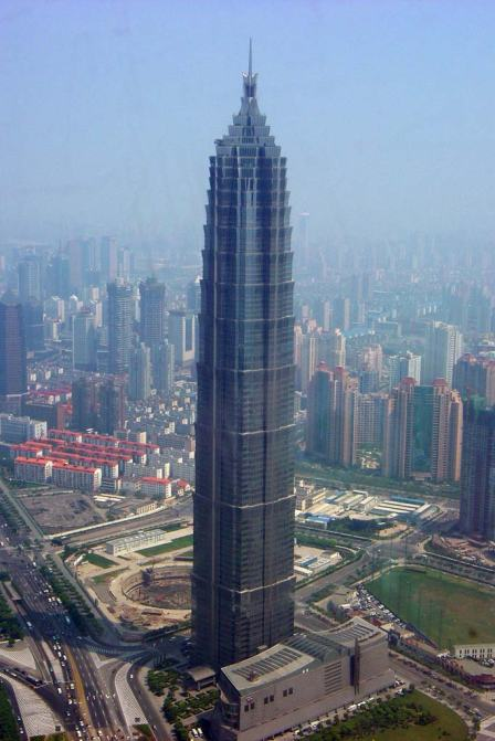 The 88-story Jin Mao Building opened in Shanghai in 1999.