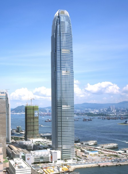 90-story Two International Financial Center opened in Hong Kong in 2003.